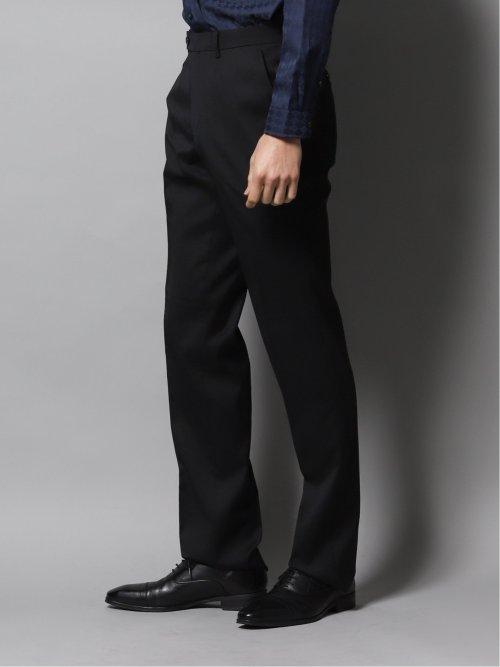 光沢スリムフィット2ピーススーツ ジオメトリック黒