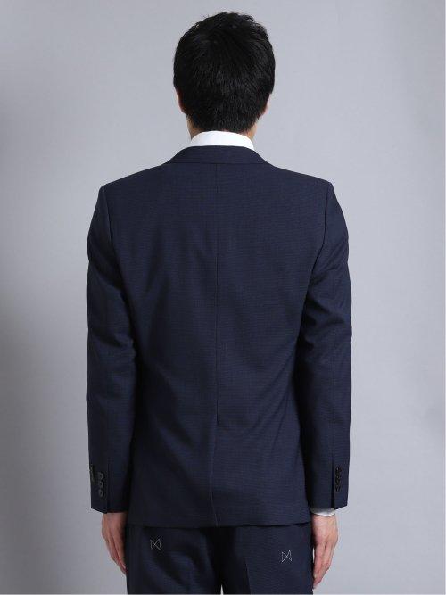 チェルッティ/CERRUTI アイ トラベル 2ボタン3ピーススーツ 千鳥 紺