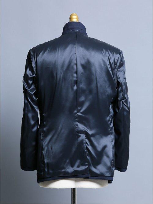 ストレッチウォッシャブル スリムフィット2ボタン2ピーススーツ チェック紺