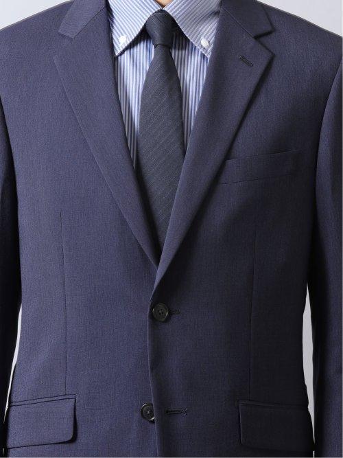 ストレッチウォッシャブル スリムフィット2ボタン2ピーススーツ ピンヘッド紺