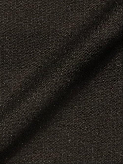 ストレッチウォッシャブル スリムフィット2ボタン2ピーススーツ シャドーストライプ黒