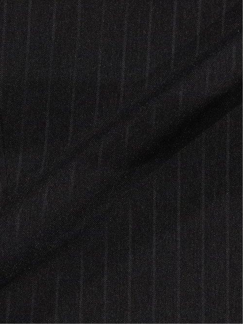 ストレッチウォッシャブル スリムフィット2ボタン2ピーススーツ ストライプ紺