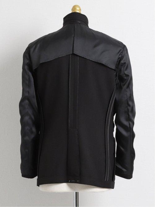 ストレッチウォッシャブル ポリエステル リラックスフィット3ピーススーツ 黒