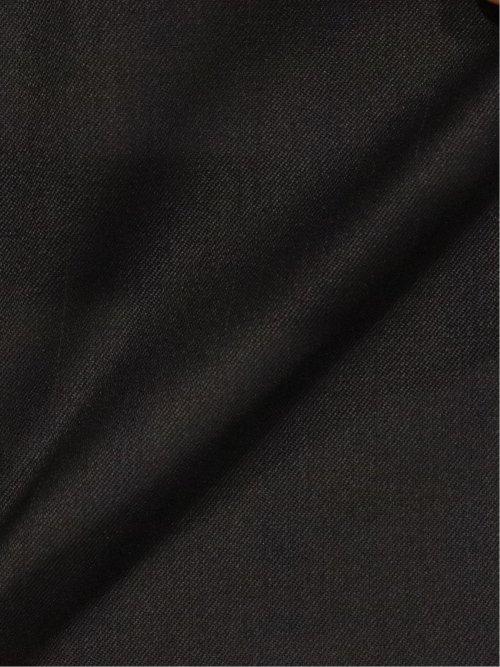 ストレッチウォッシャブル ウール混チェック柄リラックスフィット3ピーススーツ 黒