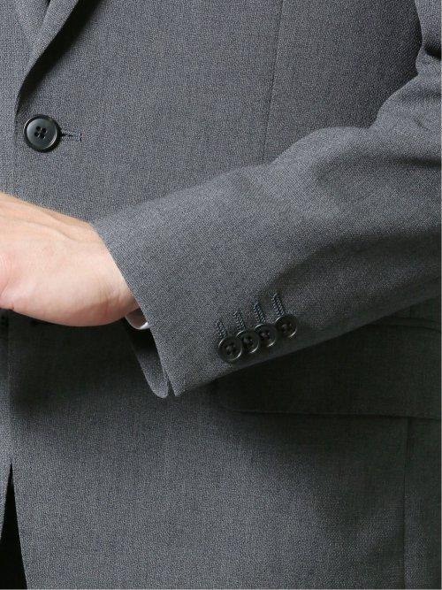 軽量メッシュ レギュラーフィット2ボタン2ピーススーツ 無地グレー
