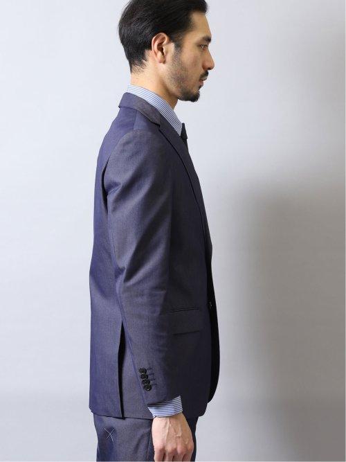 ゼロアイロン レギュラーフィット2ボタン2ピーススーツ 紺