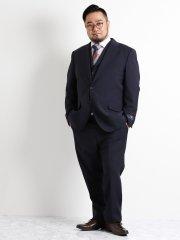 【春夏】【大きいサイズ】アレキサンダージュリアン/ALEXANDER JULIAN MARZOTTO PERFORMANCE SUIT 紺3ピース