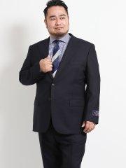 【大きいサイズ】アレキサンダージュリアン/ALEXANDER JULIAN ウール100% SUPER140'S シャドーヘリンボン紺 2ピーススーツ