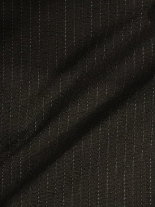ヘイク/HEIQ レギュラーフィット2釦2ピーススーツ 黒ピンストライプ