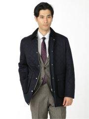 カノニコ/CANONICO ウール100% SUPER120'S キルティングコート 紺