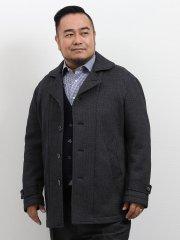 【大きいサイズ】グランバック/GRAND-BACK セーターフリースセットインスリーブハーフコート