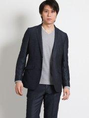 レノマ オム/renoma HOMME メランジカラミ織 セットアップ2釦ジャケット