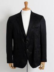 【大きいサイズ】グランバック/GRAND-BACK エルモザ黒スエード 2ボタンテーラードジャケット