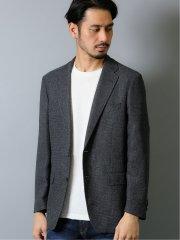 ストレッチ カラミ織り 2ボタンセットアップジャケット