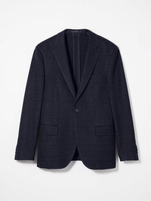 フォルテックス/FORTEX リネン混ニット レギュラーフィット2釦テーラードジャケット