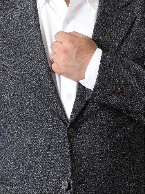 【大きいサイズ】グランバック/GRAND-BACK ストレッチ ブリーズクール2ボタンジャケット プリント紺