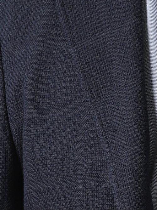 【大きいサイズ】アレキサンダージュリアン/ALEXANDER JULIAN ITALY 綿混 シャドーチェック柄2ボタンジャケット