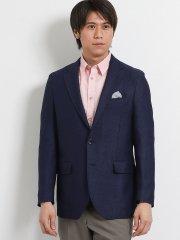 ジニョーネ/ZIGNONE ウールリネン 2釦シングルジャケット