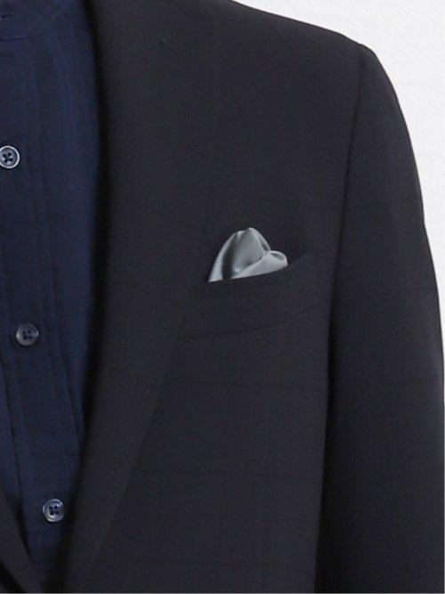 トラベスト/TRABEST レギュラーフィットセットアップ2釦ジャケット メッシュ紺ウィンドペン