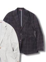 【大きいサイズ】グランバック/GRAND-BACK クールドッツ/COOL DOTS 2釦テーラードジャケット