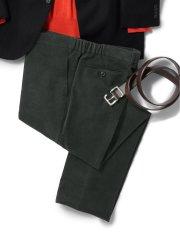 【大きいサイズ】グランバック/GRAND-BACK ストレッチポリコール シャーリングパンツ