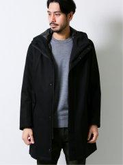 ライナー付3WAY THINDOWN コート 黒