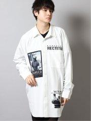 エステル転写プリント 長袖BIGシャツ