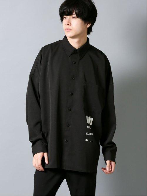 アーチ刺繍 長袖BIGシャツ