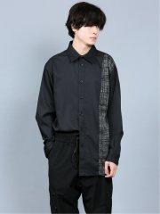 シェラック/SHELLAC チェックプリント配色 長袖シャツ