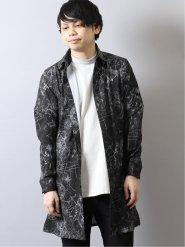 シェラック/SHELLAC デジタルアースプリント 長袖ロングシャツ