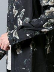 【WEB限定カラー】シェラック/SHELLAC ローズ&バタフライプリント 長袖シャツ