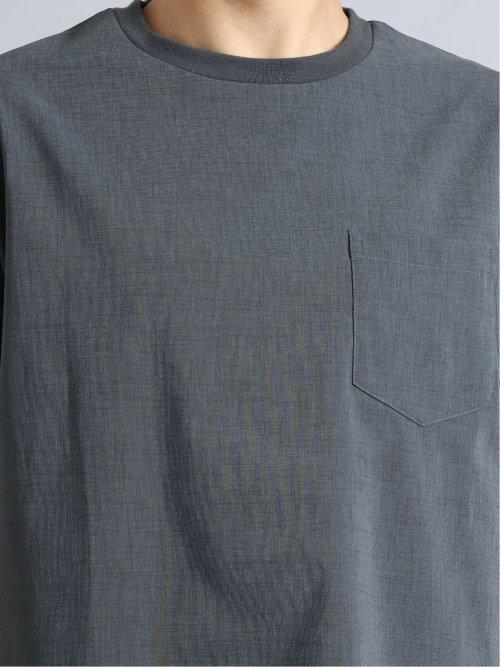 麻調ストレッチ セットアップ半袖プルオーバー