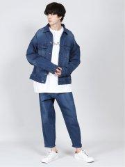 リサイクルコットン セットアップ デニムシャツジャケット
