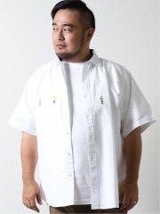 【大きいサイズ】グランバック/GRAND-BACK 綿オックス レギュラーカラー半袖シャツ