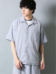 ストレッチ セットアップ オープンカラー半袖シャツ