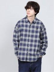 カンゴール/KANGOL チェック柄 ワイドシャツアウター