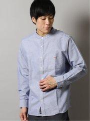 ボール/BALL 綿オックス バンドカラー長袖シャツ