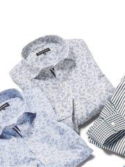 【大きいサイズ】グランバック/GRAND-BACK ニット カッタウェイ長袖シャツ