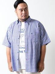 【大きいサイズ】ポロ/POLO マドラスチェック ボタンダウン半袖シャツ