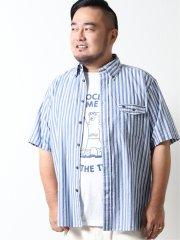 【大きいサイズ】ポロ/POLO サッカーストライプ ボタンダウン半袖シャツ