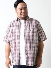 【大きいサイズ】ポロ/POLO サッカーチェック ボタンダウン半袖シャツ
