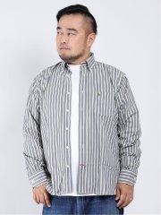 【大きいサイズ】ポロ/POLO ツイルストライプ ボタンダウン長袖シャツ