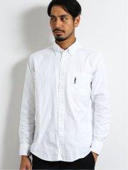 綿100%80双 プラチナム刺繍ボタンダウン長袖シャツ