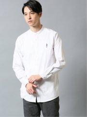 ストレッチオックス バンドカラー長袖シャツ