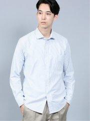 ストレッチオックス ラウンドカラー長袖シャツ