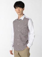 オックス前身切替 レギュラーカラー長袖シャツ
