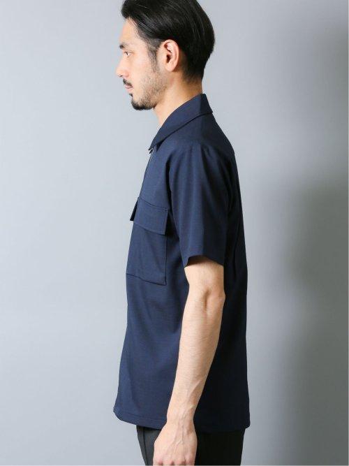 ポリトロ Wポケット半袖ジップシャツ