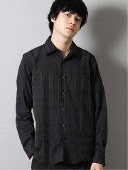 チェックドビー2枚衿レギュラーカラー長袖シャツ