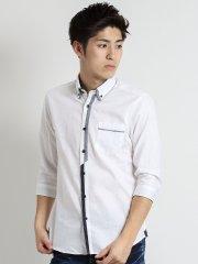 市松ドビーワイドカラー2枚衿ボタンダウンシャツ