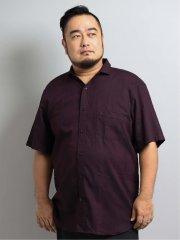 【大きいサイズ】レノマオム/renoma HOMME 幾何学ジャガード スタンド衿ワイヤー半袖シャツ